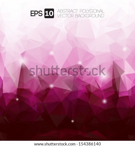 vector abstract purple polygonal background  - stock vector