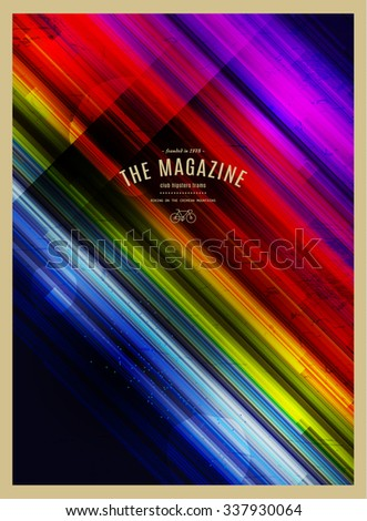 vector abstract retro background. hipster style.  - stock vector