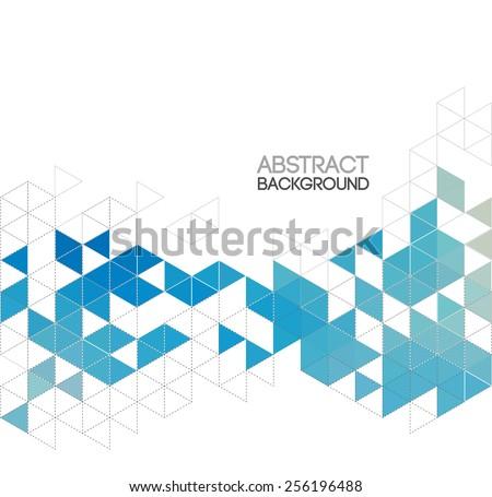 Vector Abstract retro geometric background. Template brochure design - stock vector