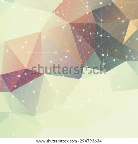 Vector Abstract retro low poly background EPS 10 - stock vector