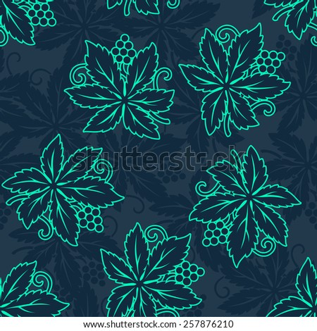 Vector Abstract retro seamless with grapes pattern - stock vector