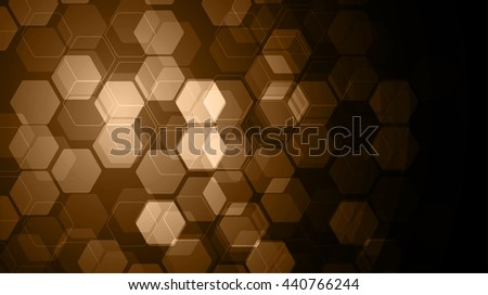 Vector Abstract science Background. brown Hexagon geometric design. EPS 10. science innovation concept abstract background - stock vector