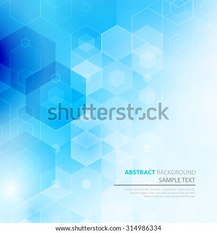 Vector Abstract science Background. Hexagon geometric design. EPS 10. - stock vector