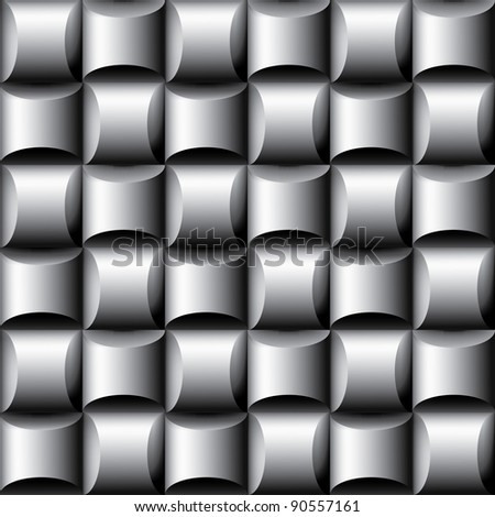 Vector abstract seamless dimensional background - stock vector