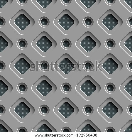Vector Abstract Seamless Futuristic Pattern - stock vector
