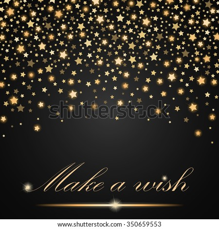Vector abstract shining falling stars on grey ambient background. Luxury design. Vector illustration