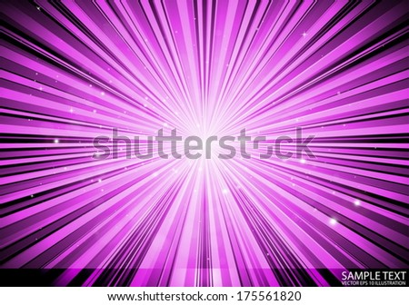 Vector abstract space  burst retro   pink background - Vector stars and sparks background illustration  - stock vector