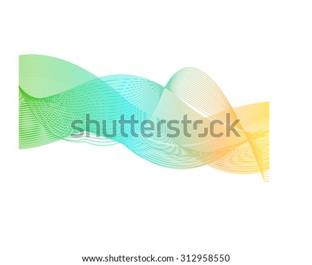 Vector Abstract spectrum curved lines background - stock vector