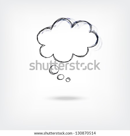 vector abstract speech or thought buble - stock vector