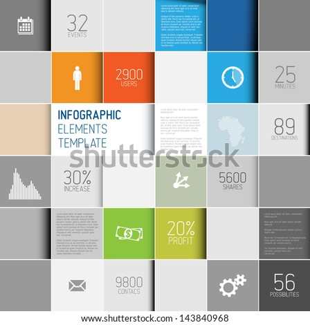 Vector abstract squares background illustration / infographic template with place for your content - stock vector