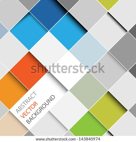 Vector abstract squares background illustration with place for your text - stock vector