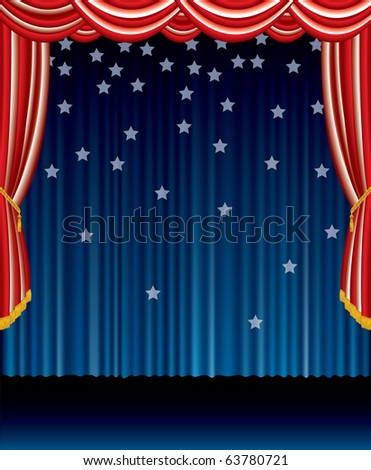 vector abstract stage in patriotic colors, eps 10 file - stock vector