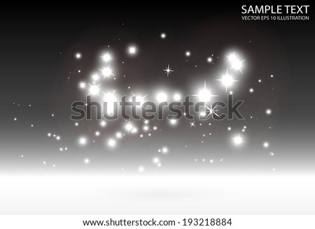 Vector abstract star flares in space background illustration - Sparkles shiny vector background illustration - stock vector