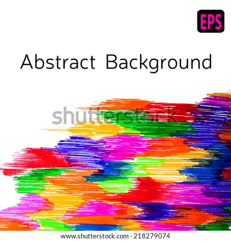 Vector abstract stripes. Isolated decor. EPS illustration.