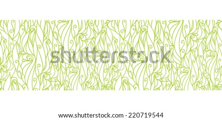 Vector abstract swirls texture horizontal border seamless pattern background