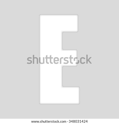 Vector abstract symbol. White surround alphabet. EPS 10.