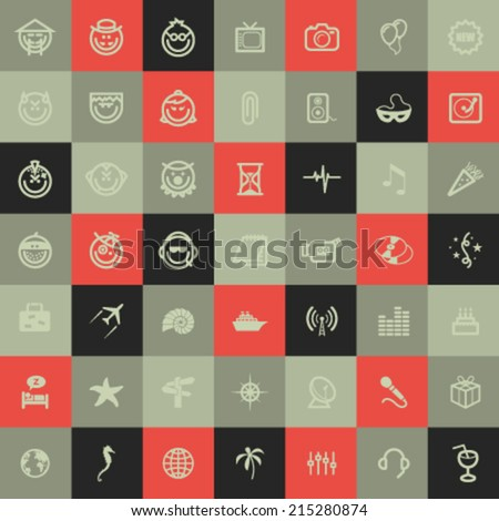 Vector Abstract Symbols  - stock vector