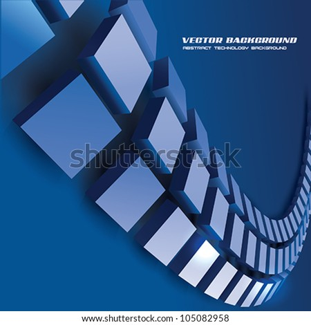 Vector Abstract Technology background - stock vector