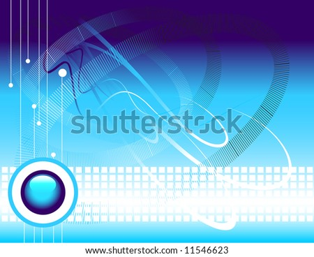 vector abstract technology background with dynamic cables space for your text. Connection concept.