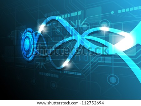 vector abstract telecommunication technology background - stock vector