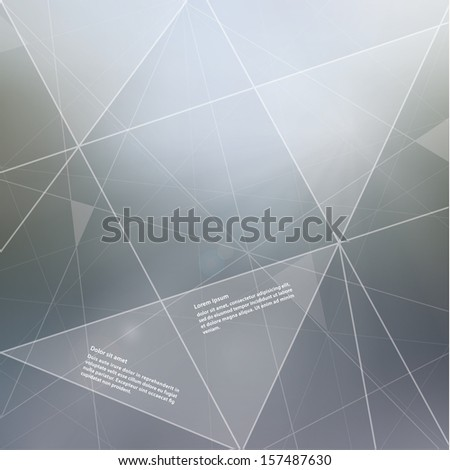 Vector abstract template with colorfully blurred background. Fresh template with place for your content. Modern futuristic design. - stock vector
