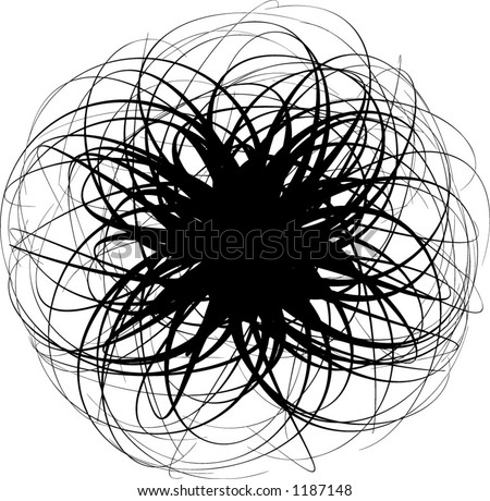 Vector abstract tentacle - stock vector