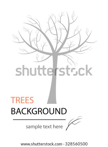 Vector abstract tree. Abstract design. Can be used as nature or ecology background. Isolation over white background. - stock vector