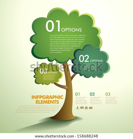 vector abstract tree infographic elements - stock vector