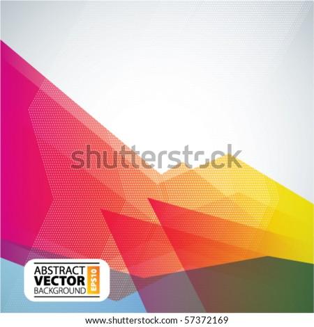 Vector abstract trendy background - stock vector