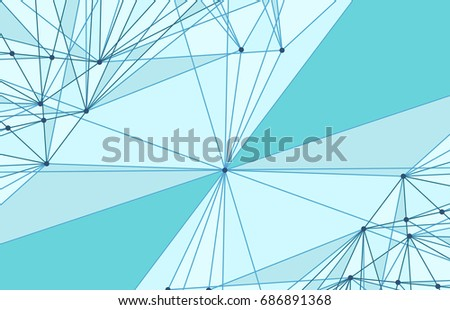 Vector abstract triangle background. Modern technology illustration with mesh. Digital geometric abstraction with lines and points.