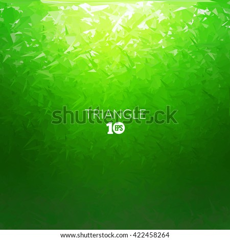 Vector Abstract triangle underwater background, abstract texture, aqua backdrop, abstract ocean sea background. - stock vector