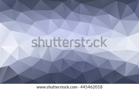 Vector abstract triangulated pale blue background. Horizontal dynamic grey pattern. Geometric texture. Modern. Triangles. White line.