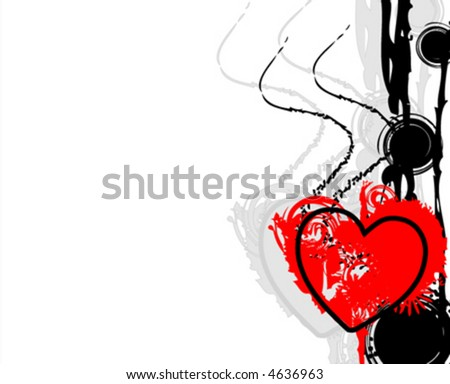 vector abstract valentine - stock vector
