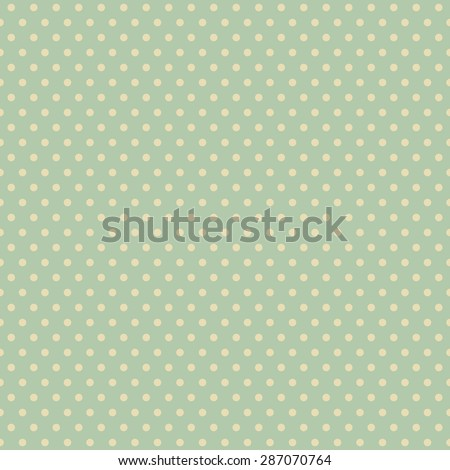 Vector abstract vintage polka dot geometric seamless pattern in retro colors. Endless texture background - stock vector