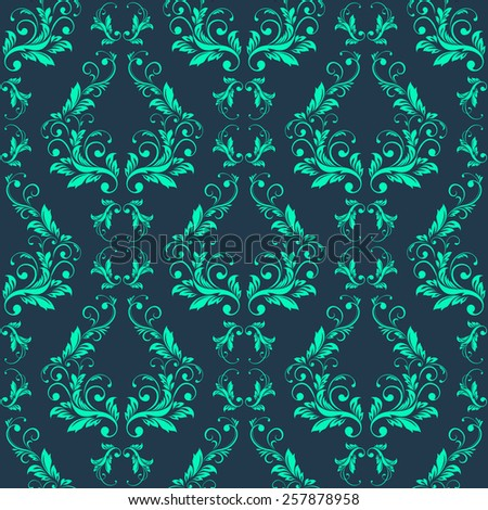 Vector Abstract vintage seamless damask pattern  - stock vector