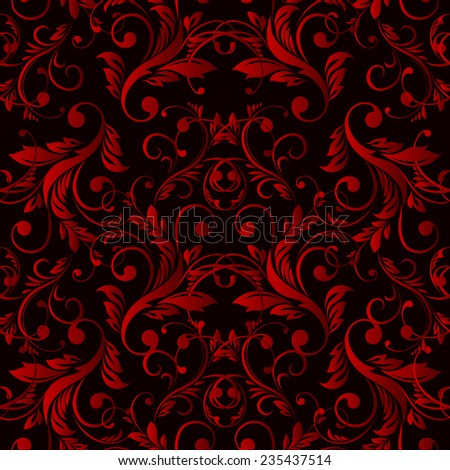 Vector Abstract vintage seamless damask pattern  EPS 10 - stock vector