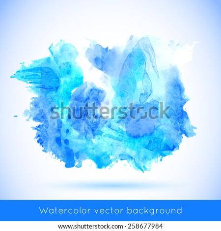 Vector abstract watercolor banner. Vivid background. - stock vector