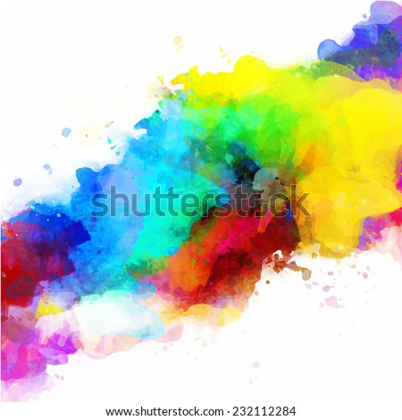 Vector abstract watercolor palette of mix colors, a mixture of colors, stains with a spray of water colors, the author's work. - stock vector