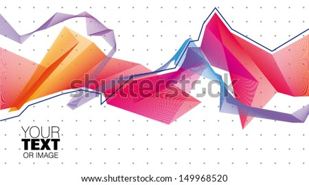 vector abstract wave - stock vector