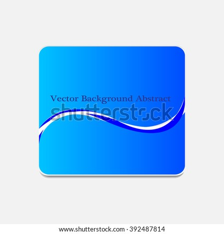 Vector abstract wave background illustration icon
