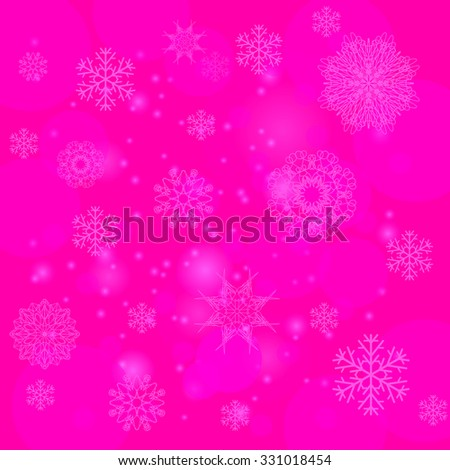 Vector Abstract Winter Snow Background. Abstract Winter Pattern.  Snowflakes Background - stock vector