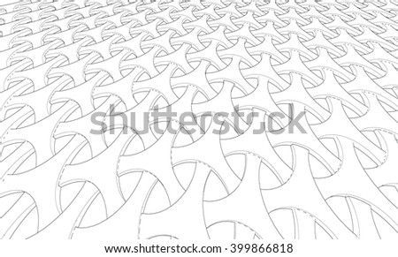 Vector abstract Wireframe background - stock vector