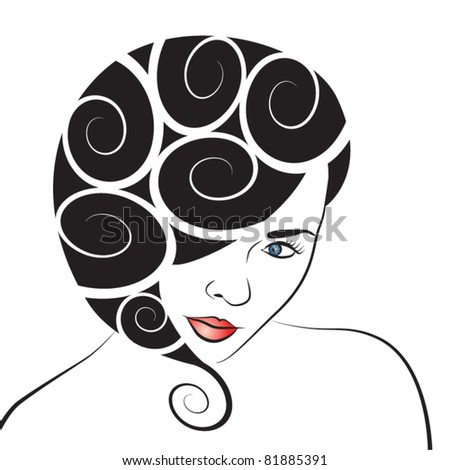 Vector abstract woman image
