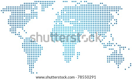 vector abstract world map