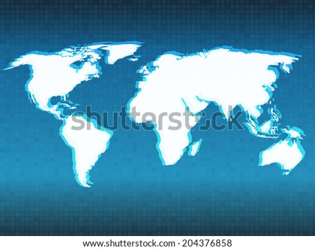 Pixel world map spot lights vectores en stock 132084080 shutterstock vector abstract world map background gumiabroncs Image collections