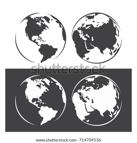 Vector abstract world map isolated on stock vector 2018 714704536 vector abstract world map isolated on white or black background globe template for website gumiabroncs Image collections