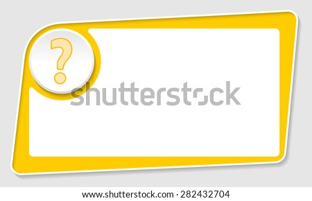 vector abstract yellow box and question mark - stock vector