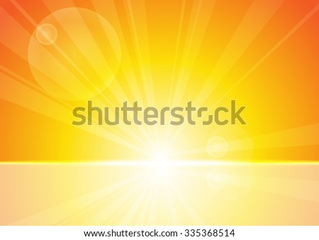 Vector : Abstract yellow stripe sun shine