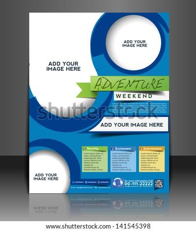 Vector adventurer brochure, flyer, magazine cover & poster template - stock vector