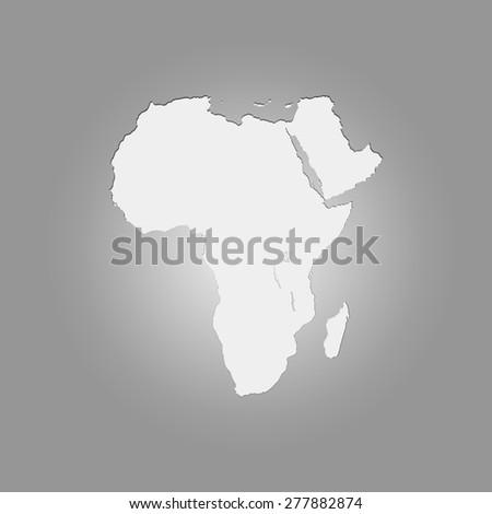 Vector Africa map - stock vector